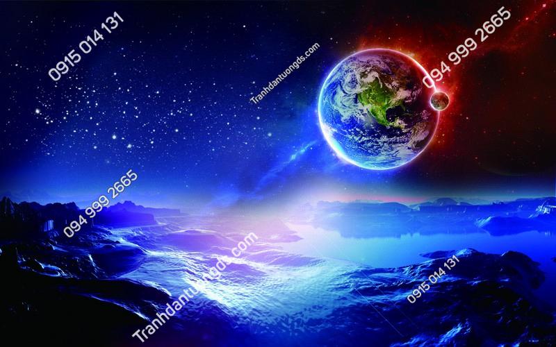 Tranh dán trần vũ trụ 3D - (2900)