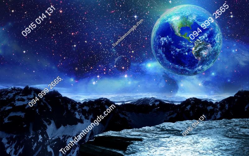 Tranh dán trần vũ trụ 3D - (2901)