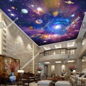 Tranh dán trần vũ trụ 3D -9023 demo