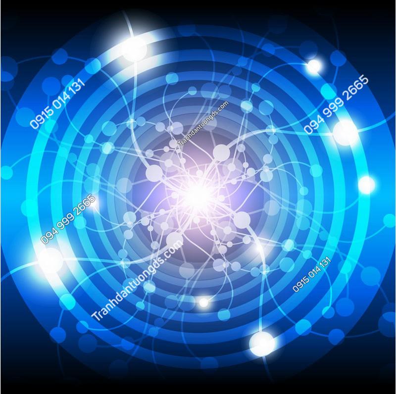 Tranh dán trần vũ trụ đồng tâm - (37)