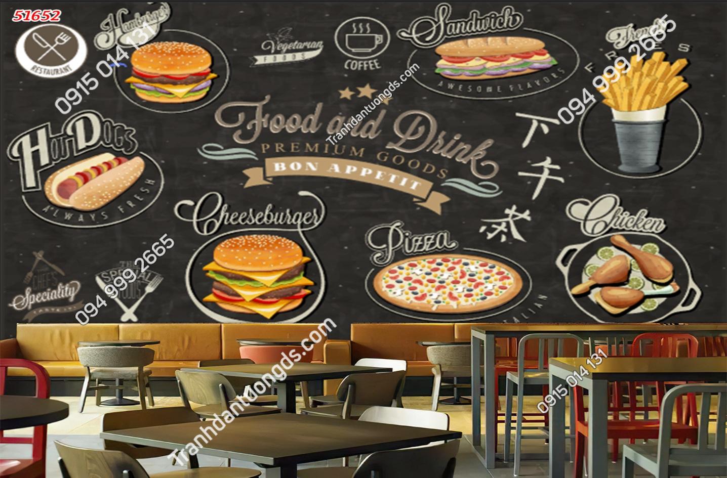 Tranh dán tường Fast Food 51652