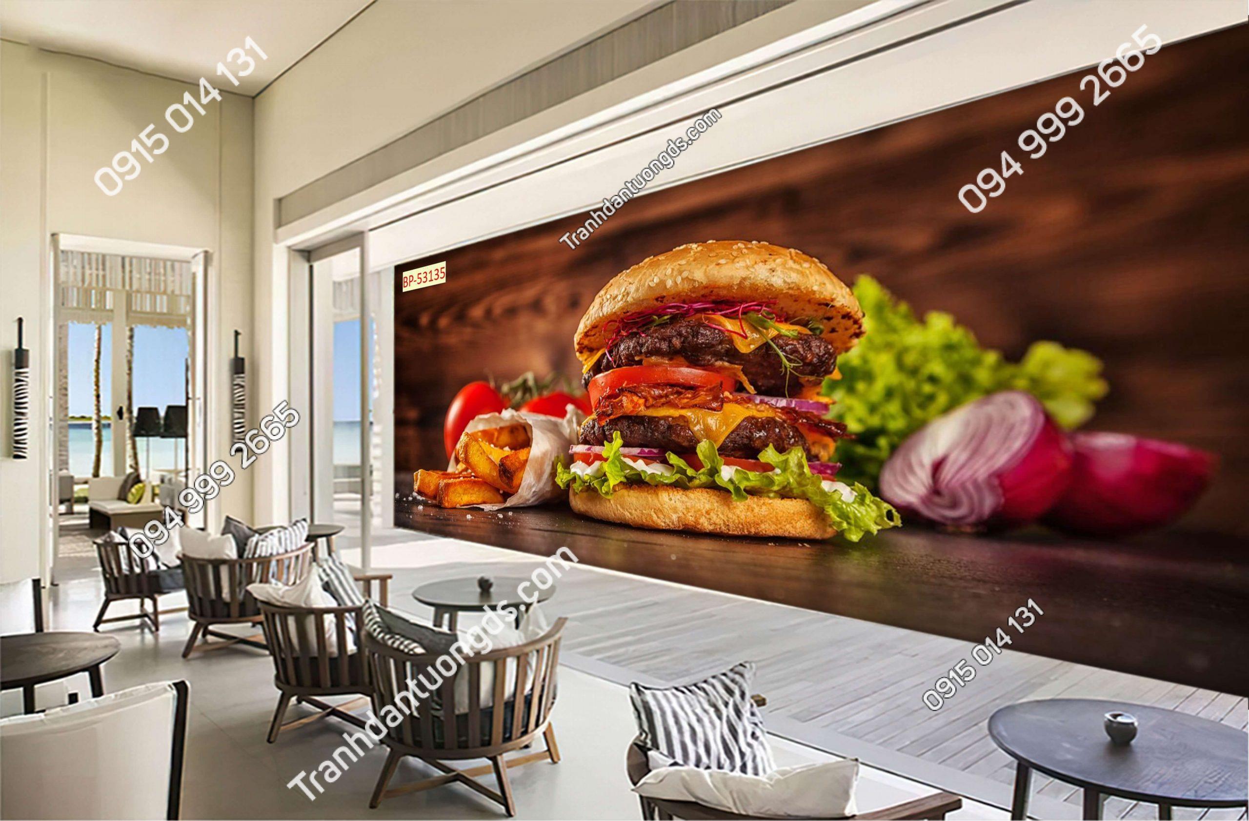 Tranh dán tường Fast Food 53135