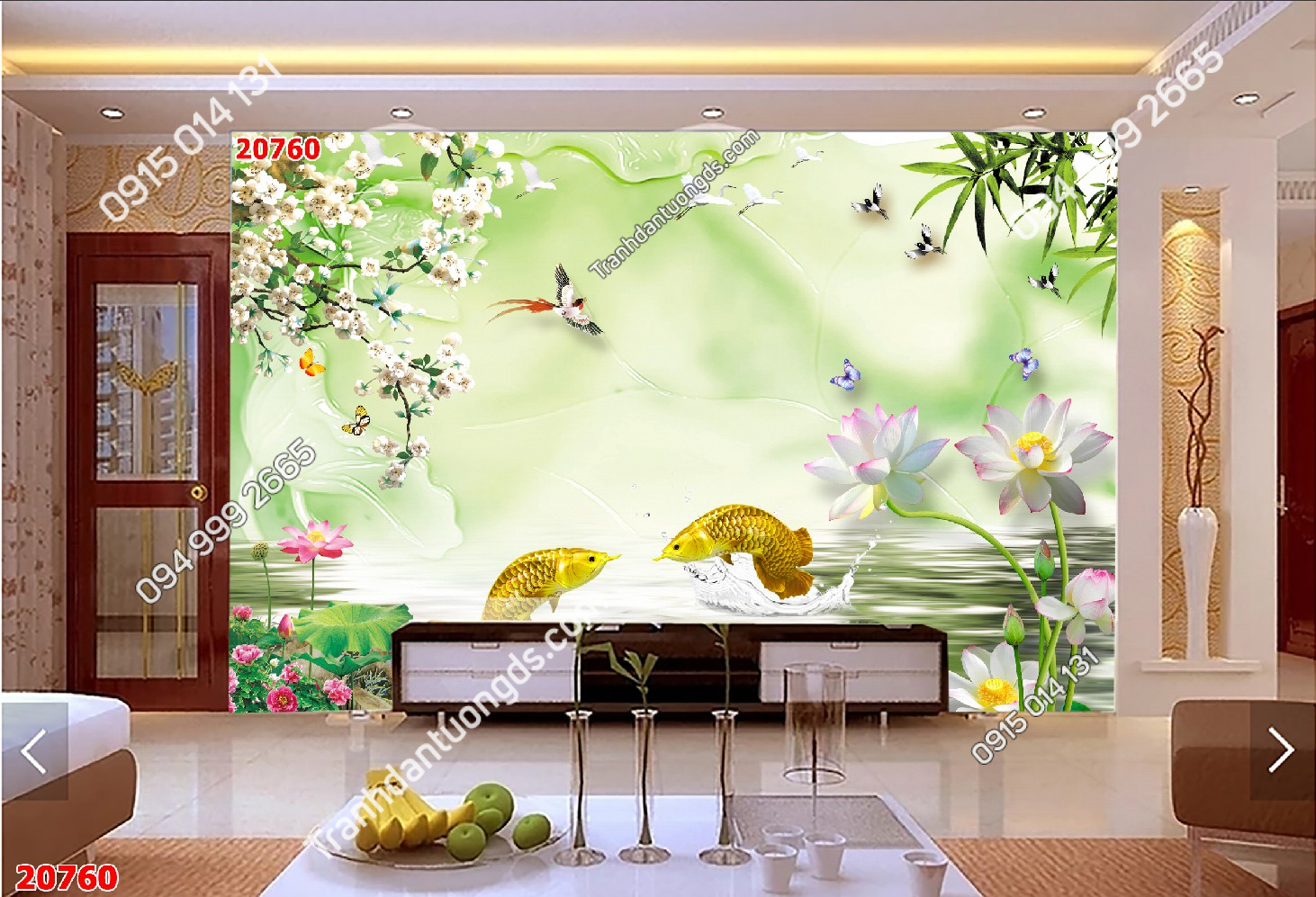 Tranh dán tường cá hải tượng vàng 20760 demo