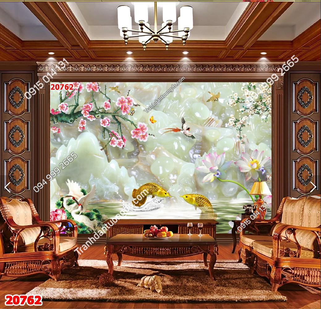 Tranh dán tường cá hải tượng vàng 20762 demo