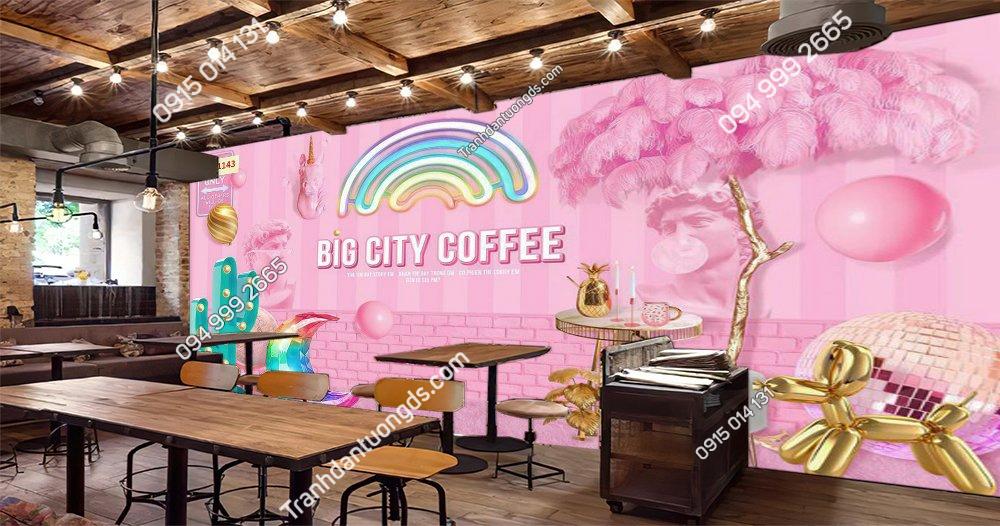 Tranh dán tường cafe bigcity