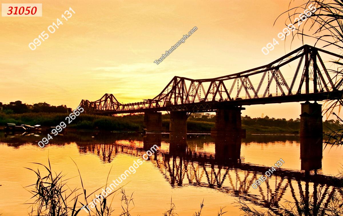 Tranh dán tường cầu Long Biên 31050