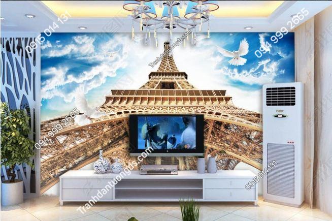 Tranh dán tường chân tháp Eiffel DS_12643387