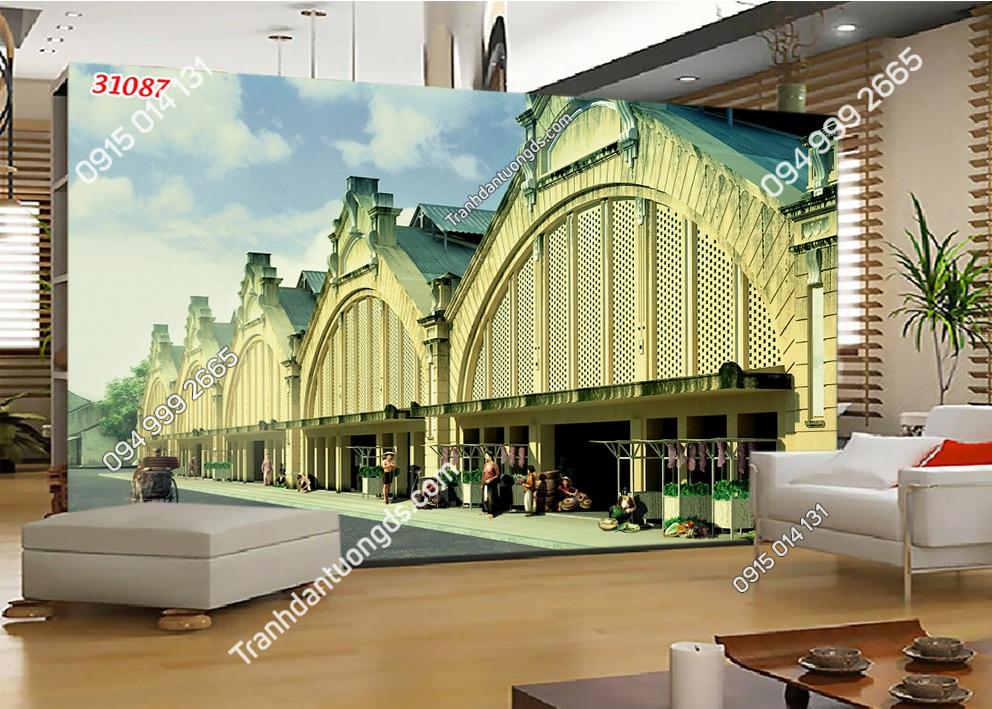 Tranh dán tường chợ ĐỒng xuân Hà Nội 31087