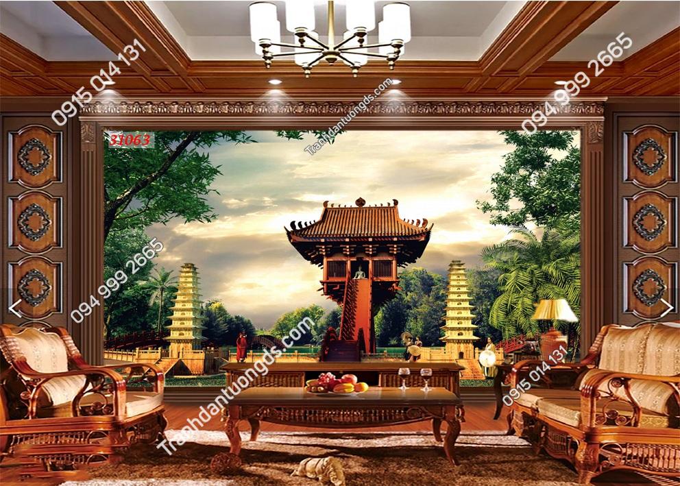 Tranh dán tường chùa một cột 31063
