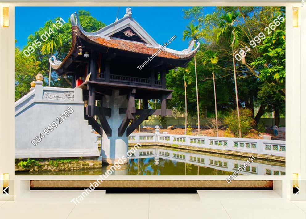 Tranh dán tường chùa một cột -HNX26
