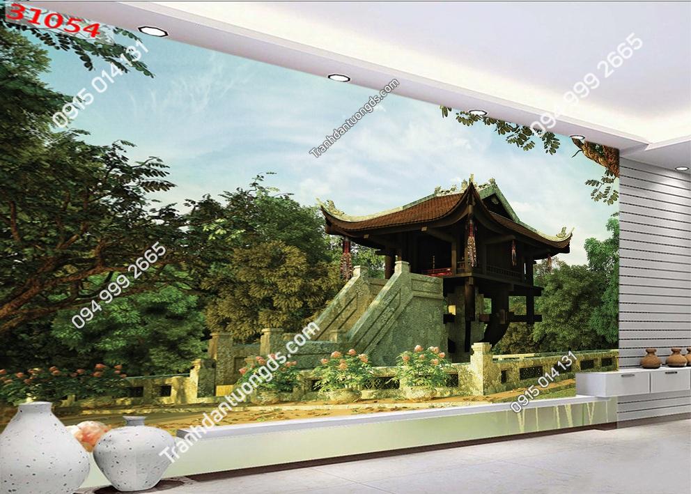 Tranh dán tường chùa một cột Hà Nội 31054