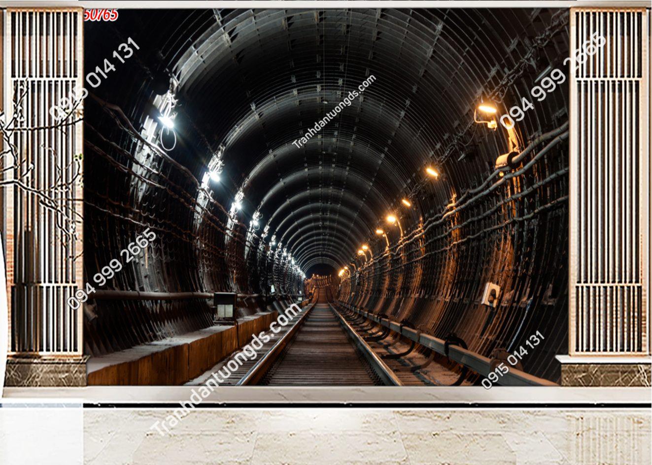 Tranh dán tường con đường hầm mỏ 50765