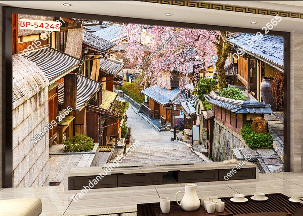 Tranh dán tường con đường phố Hàn quốc 54246