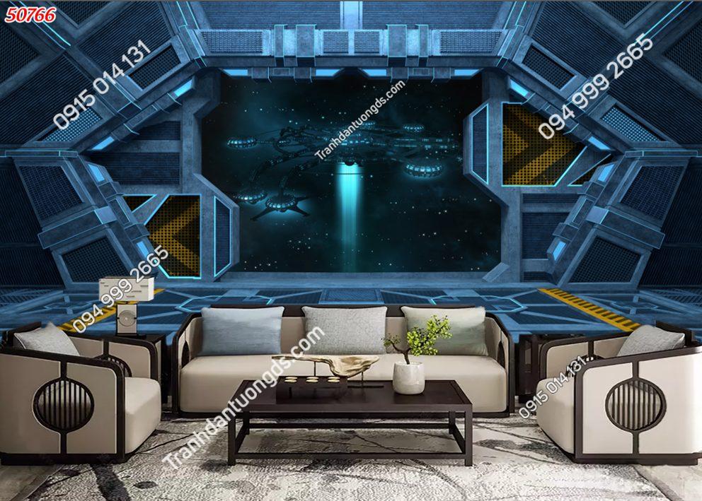 Tranh dán tường con đường tàu không gian vũ trụ 50766