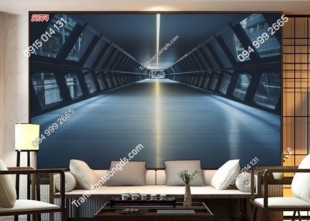 Tranh dán tường con đường tàu không gian vũ trụ 50774