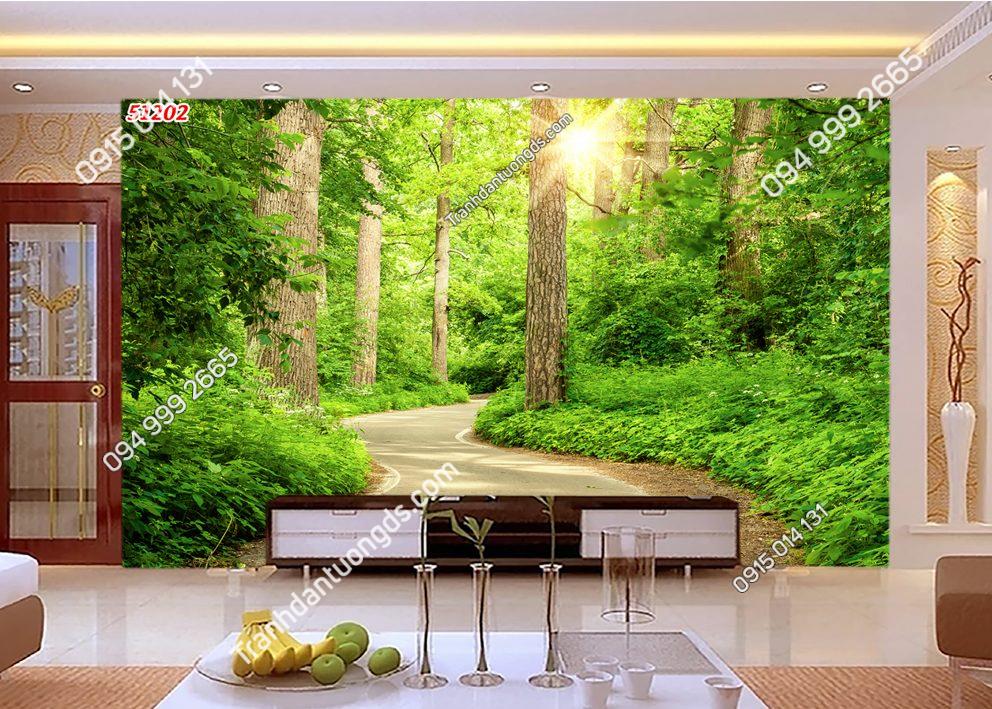 Tranh dán tường con đường trong rừng 51180