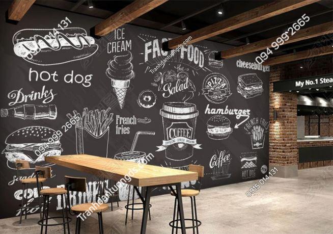Tranh dán tường cửa hàng Fast Food DS_14669569