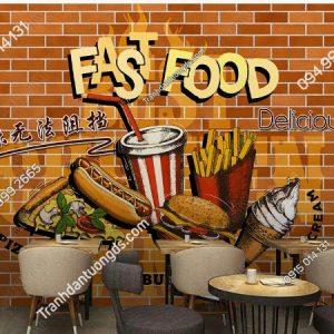 Tranh dán tường cửa hàng Fast Food DS_16192676
