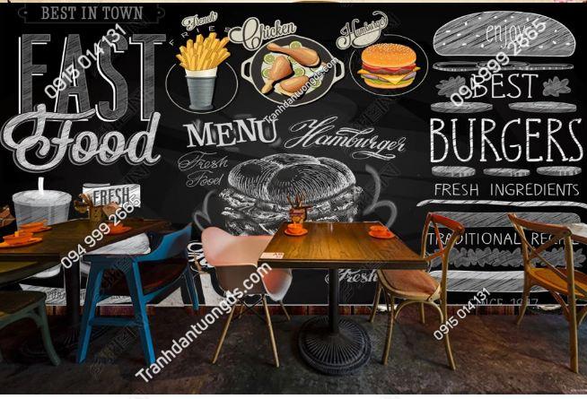 Tranh dán tường cửa hàng Fast Food DS_17035431