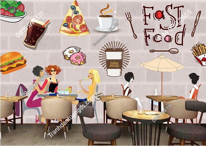 Tranh dán tường cửa hàng Fast Food DS_18391415