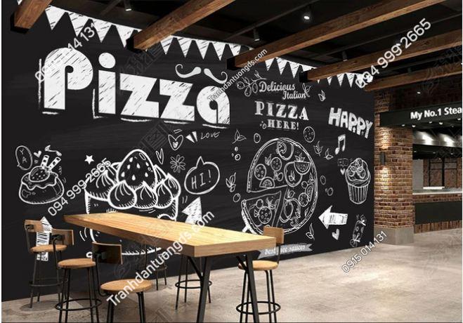Tranh dán tường cửa hàng Pizza DS_14818295