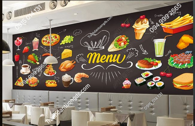 Tranh dán tường cửa hàng ăn nhanh DS_14954069