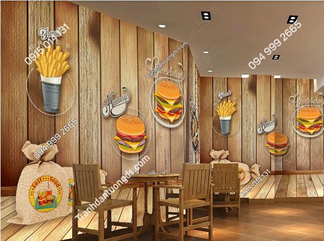 Tranh dán tường cửa hàng ăn nhanh DS_15060509