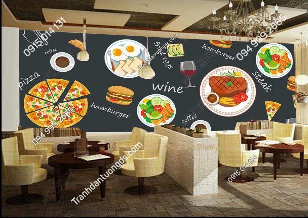 Tranh dán tường cửa hàng ăn nhanh DS_15115334