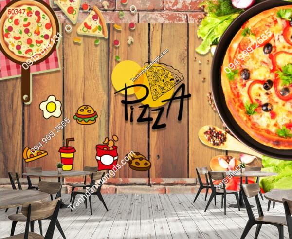 Tranh dán tường cửa hàng pizza 60347