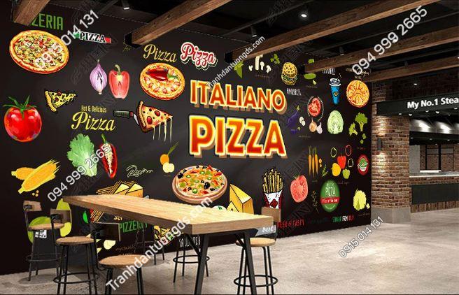 Tranh dán tường cửa hàng pizza DS_15801680