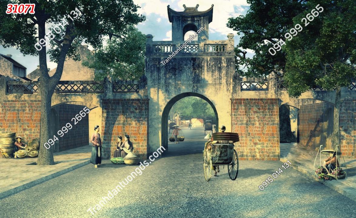 Tranh dán tường cửa ô Hà Nội 31071