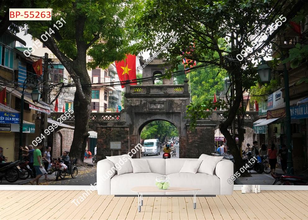Tranh dán tường cửa ô Hà Nội 55263