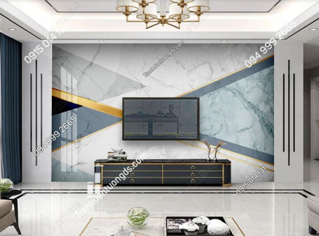 Tranh dán tường đá cẩm thạch hình học hiện đại 24236220