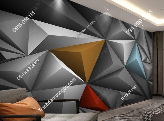 Tranh dán tường đa giác 3 chiều hiện đại 23756660