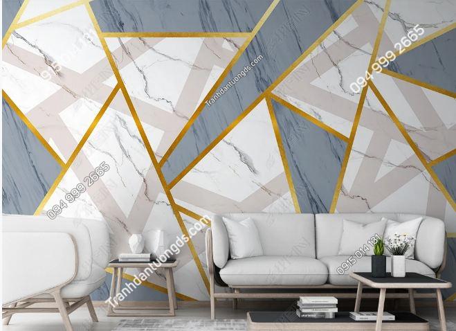 Tranh dán tường đa giác hiện đại phòng khách 23856124