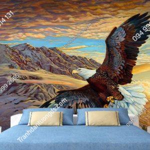 Tranh dán tường đại bàng dán phòng ngủ DS_17429271