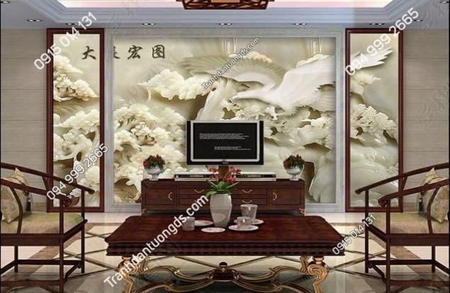 Tranh dán tường đại bàng giả đá cẩm thạch trắng DS_13674375