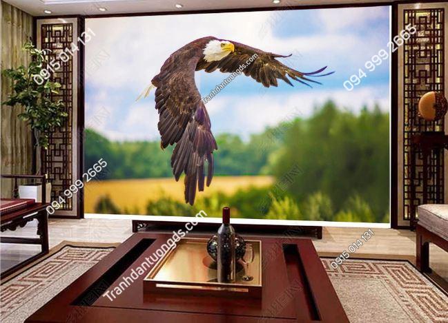 Tranh dán tường đại bàng tung cánh bay DS_17072084