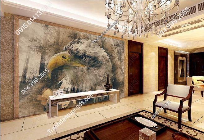 Tranh dán tường đầu đại bàng dán phòng khách DS_16413935