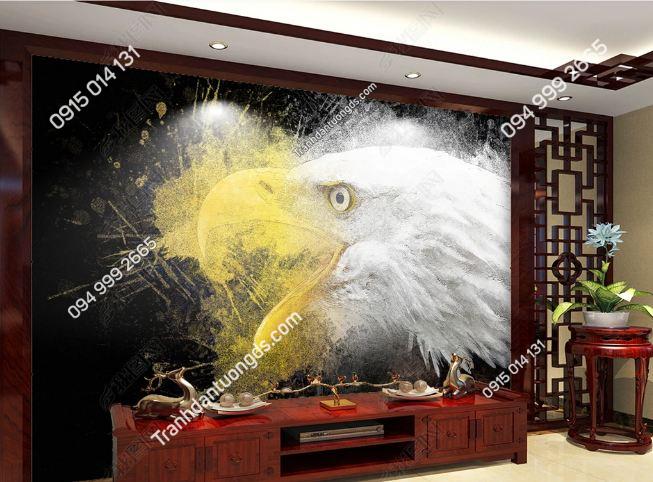 Tranh dán tường đầu đại bàng dán phòng khách DS_17746772