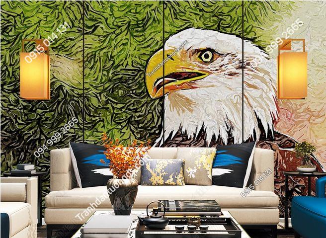 Tranh dán tường đầu đại bàng dán phòng khách DS_24155770