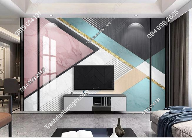 Tranh dán tường hiện đại kiểu hình học 23184674