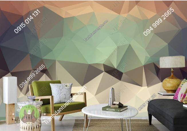 Tranh dán tường hiện đại kiểu hình học 3 chiều 15524166