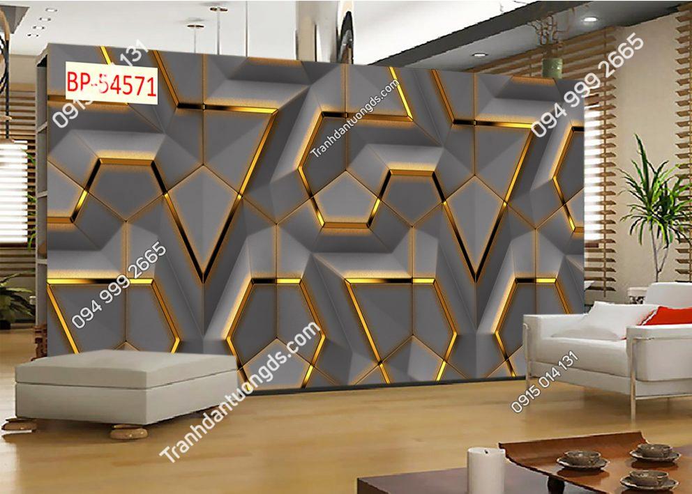 Tranh dán tường hình học 3d 54571