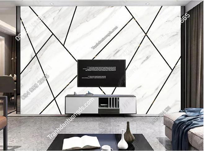 Tranh dán tường hình học đá cẩm thạch 25074312