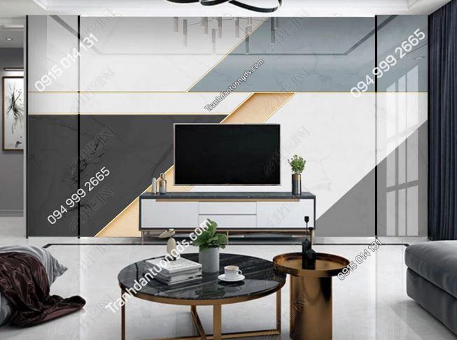 Tranh dán tường hình học hiện đại dán phòng khách 24958397
