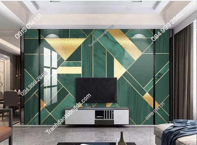 Tranh dán tường hình học hiện đại phòng khách 23430266