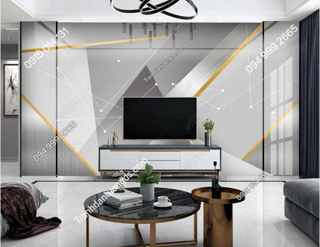 Tranh dán tường hình học hiện đại phòng khách 23438132