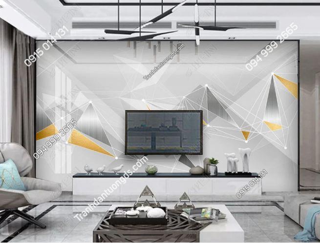 Tranh dán tường hình học hiện đại phòng khách 23438160