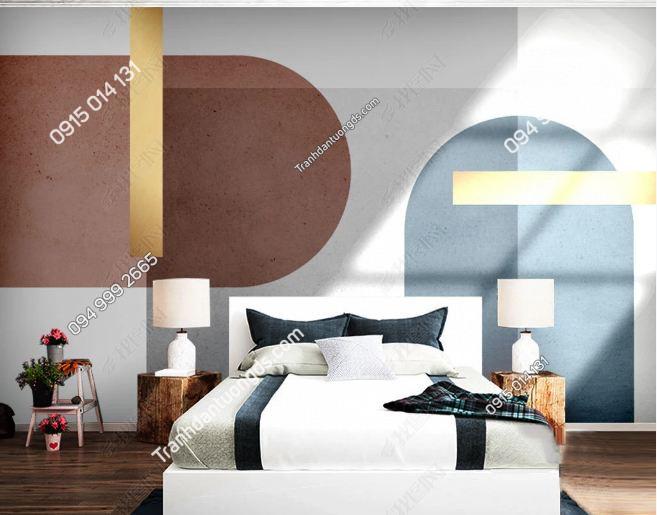 Tranh dán tường hình học hiện đại phòng khách 25069923